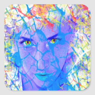 Electric Reality Square Sticker