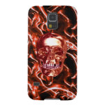 Electric Red Chrome Skull Galaxy Nexus iPhone Case Cases For Galaxy S5