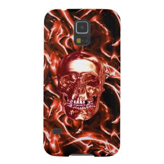 Electric Red Chrome Skull Galaxy Nexus iPhone Case