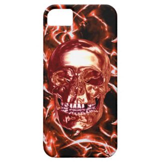 Electric Red Chrome Skull iPhone 5 Case iPhone 5 Cover