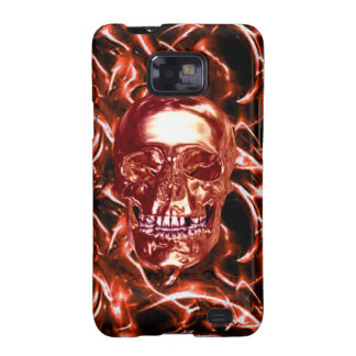Electric Red Chrome Skull Samsung Galaxy Case Galaxy S2 Cover
