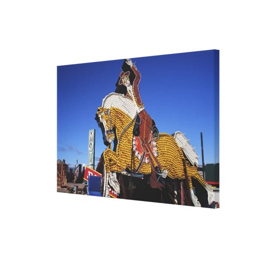 Electric Rodeo Sign Stretched Canvas Prints