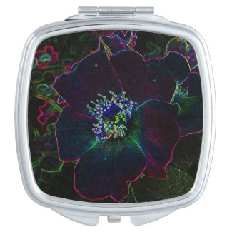 Electric Rose Abstract Compact Mirror