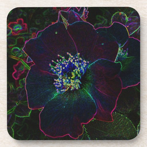 Electric Rose Drink Coasters