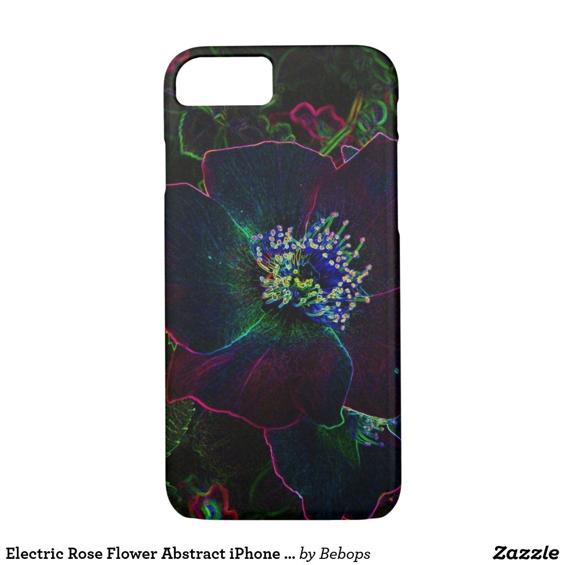 Electric Rose Flower Abstract iPhone 7 Case
