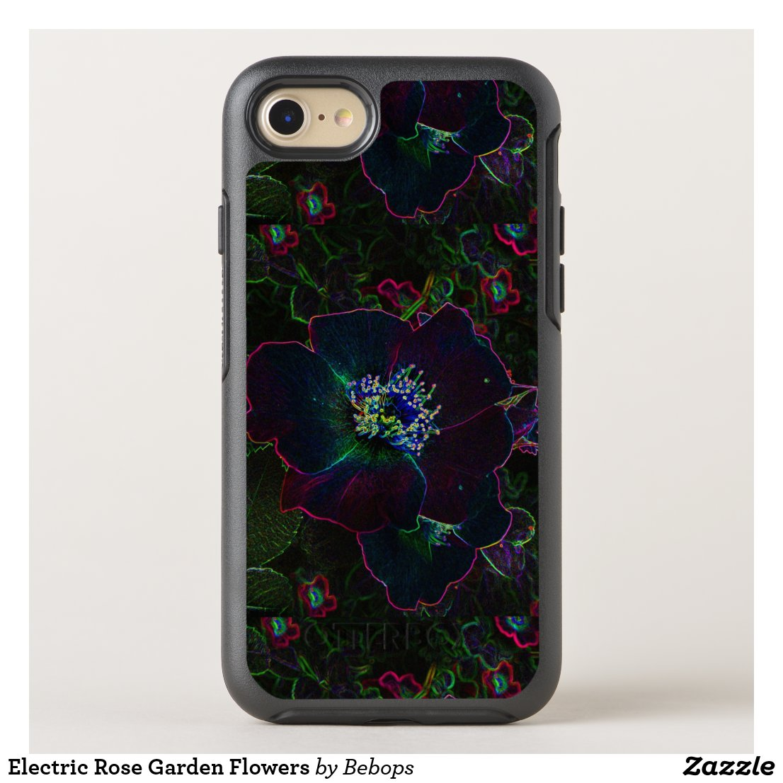Electric Rose Garden Flowers OtterBox Symmetry iPhone 7 Case