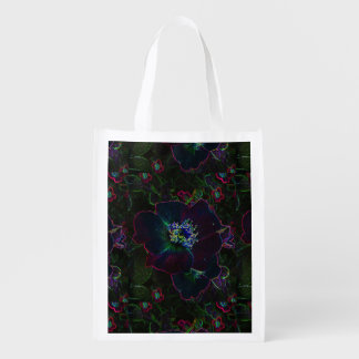 Electric Roses Grocery Bag