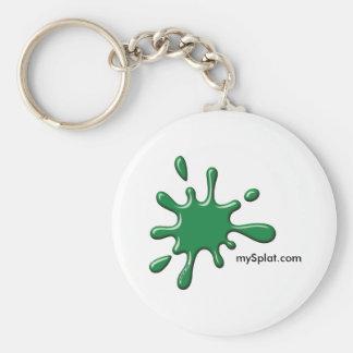 Electric Scenario Paintball - mySplat.com Basic Round Button Keychain