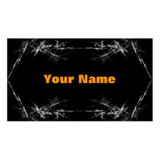 Electric Scratch. Black, White Fractal Art. Business Card