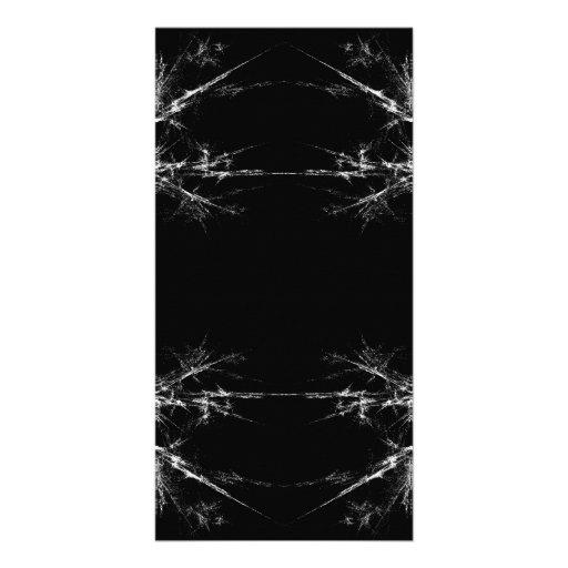 Electric Scratch. Black, White Fractal Art. Photo Greeting Card