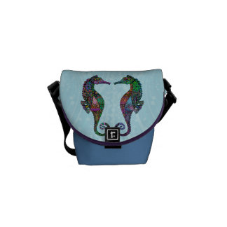 Electric Seahorse Messenger Bags