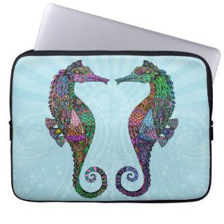 Electric Seahorse Neoprene Laptop Sleeve