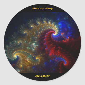 Electric Sheep 202.128198 Classic Round Sticker