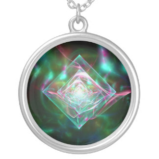 Electric Sheep Dream of Diamonds Round Pendant Necklace