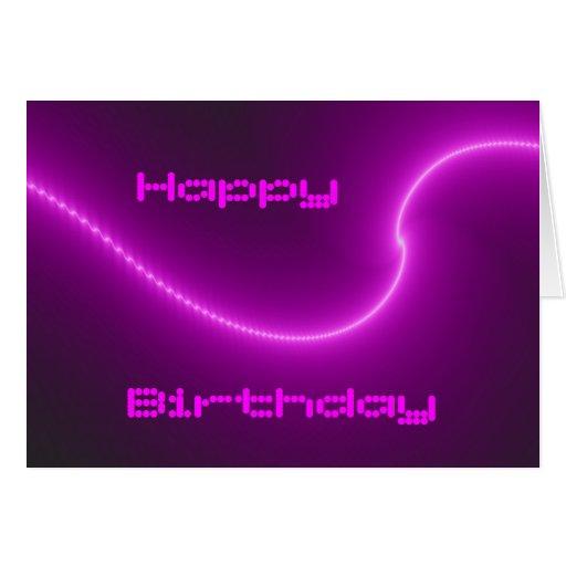 Electric Shock Fractal Custom Birthday Card