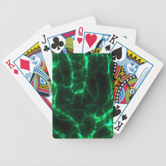 Electric Shock in Dark Green Bicycle Playing Cards