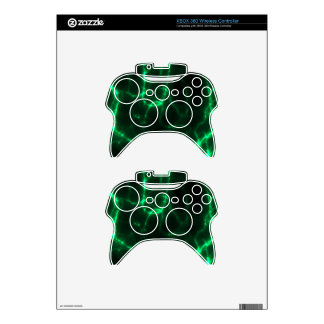 Electric Shock in Dark Green Xbox 360 Controller Skin