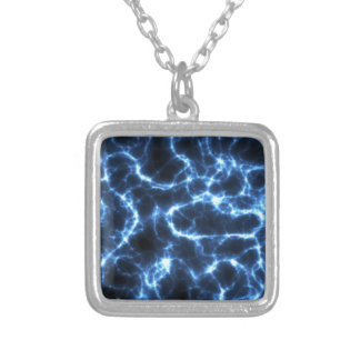 Electric Shock in Light Blue Silver Plated Necklace