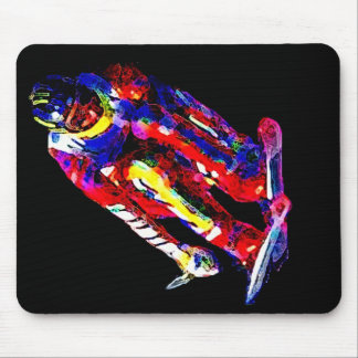 Electric Skier 03 Mouse Pad