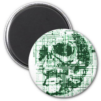 Electric Skull 2 Inch Round Magnet