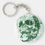 Electric Skull Basic Round Button Keychain