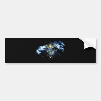 Electric Skull Bumper Sticker