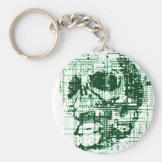 Electric Skull Keychain