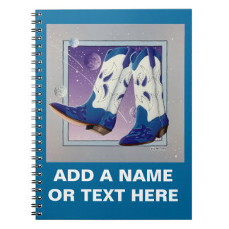 Electric Slide Cowboy Boots Notebook