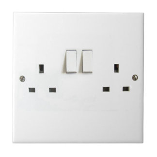 Electric socket from the UK Ceramic Tile