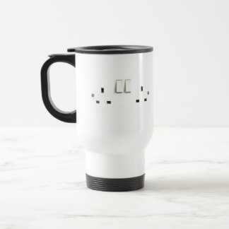 Electric socket from the UK 15 Oz Stainless Steel Travel Mug