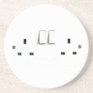Electric socket from the UK Sandstone Coaster