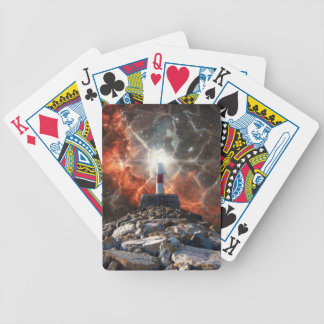 Electric Space Lights Bicycle Playing Cards