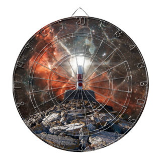 Electric Space Lights Dartboard With Darts