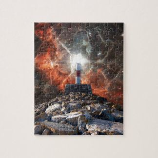Electric Space Lights Jigsaw Puzzle