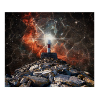 Electric Space Lights Poster