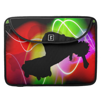 Electric Spectrum Skateboarder MacBook Pro Sleeve