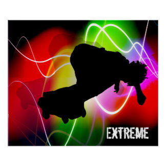 Electric Spectrum Skateboarder Posters