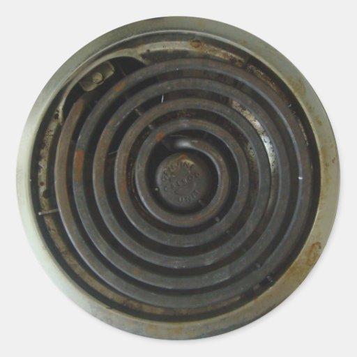 Electric Stove Burner Classic Round Sticker Zazzle