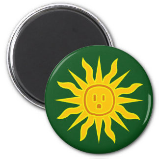 Electric Sun 2 Inch Round Magnet