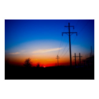 """Electric Sunset"" - Photo Landscape Poster Print"