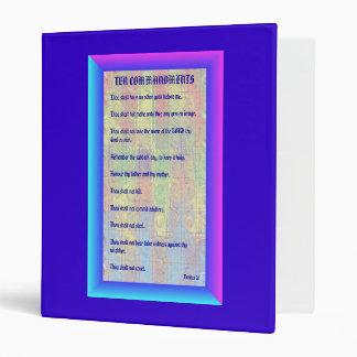 Electric Ten Commandments Binder / Notebook