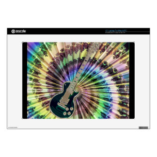 """Electric Tie-Dye Guitar Decal For 15"""" Laptop"""