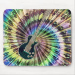 Electric Tie-Dye Guitar Mouse Pad