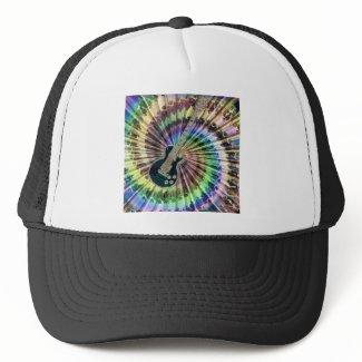 Electric Tie-Dye Guitar Trucker Hats