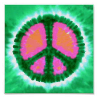 Electric Tie-Dye Peace Sign