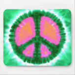 Electric Tie-Dye Peace Sign Mouse Pad