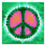 Electric Tie-Dye Peace Sign Poster
