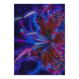 Electric Tiger Lily Card