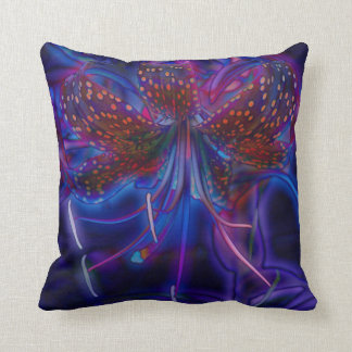 Electric Tiger Lily Pillow