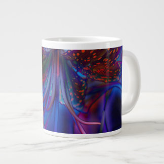 Electric Tiger Lily 20 Oz Large Ceramic Coffee Mug